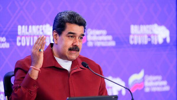 Venezuela's President Nicolas Maduro gives a speech in Caracas, Venezuela March 3, 2021. - Sputnik International