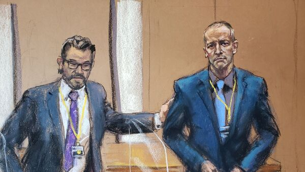 Defence attorney Eric Nelson introduces Derek Chauvin, the former Minneapolis police officer facing murder charges in the death of George Floyd, to potential jurors during jury selection in his trial in Minneapolis, Minnesota, U.S., March 15, 2021 in this courtroom sketch from a video feed of the proceedings. - Sputnik International