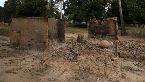Burnt-out huts are seen at the scene of an armed attack in Chitolo village, Mozambique, July 10, 2018. Picture taken July 10, 2018.  - Sputnik International