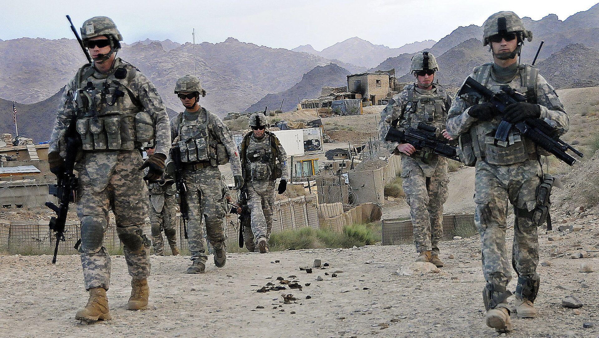 U.S. Soldiers depart Forward Operating Base Baylough, Afghanistan - Sputnik International, 1920, 31.08.2021