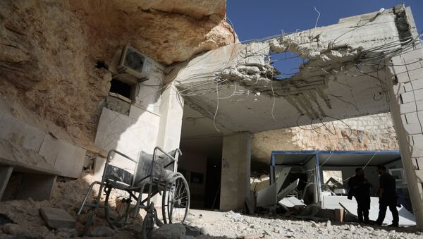 A view shows the damage at a hospital in a rebel-held town of Atareb in northwestern Syria, March 21, 2021.  - Sputnik International