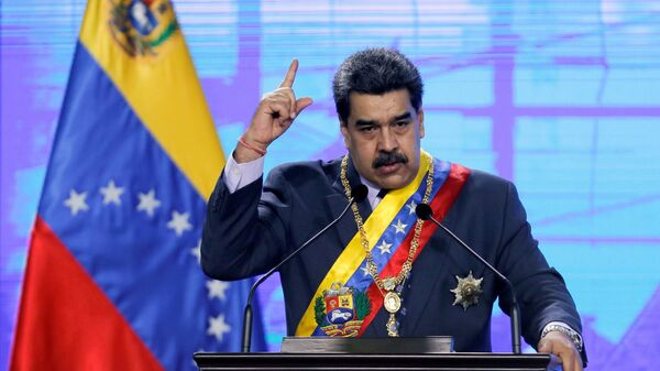 Venezuela's President Nicolas Maduro speaks during a ceremony in Caracas, Venezuela January 22, 2021 - Sputnik International