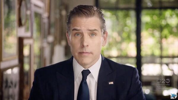 (FILES) In this file photo video grab made on August 20, 2020 from the online broadcast of the Democratic National Convention, being held virtually amid the novel coronavirus pandemic, shows former vice-president and Democratic presidential nominee Joe Biden's son Hunter Biden speaking during the last day of the convention. - Sputnik International