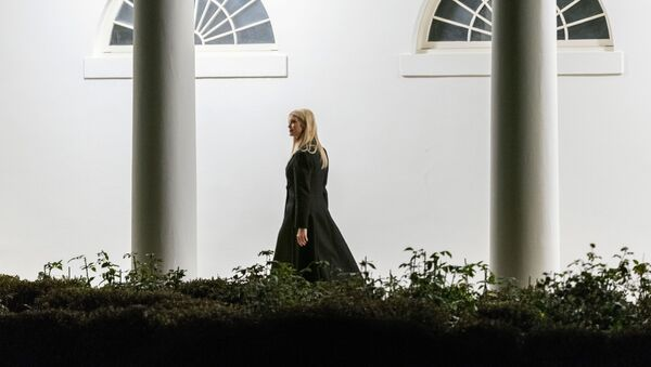 Ivanka Trump, the daughter of President Donald Trump, walks along the Colonnade toward the West Wing as she arrives in the early morning hours at the White House in Washington, Tuesday, Jan. 5, 2021, after returning with the president from a rally in Dalton, Ga. - Sputnik International