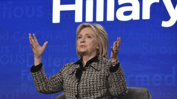 Hillary Clinton participates in the Hulu Hillary panel during the Winter 2020 Television Critics Association Press Tour, on Friday, Jan. 17, 2020, in Pasadena, Calif - Sputnik International