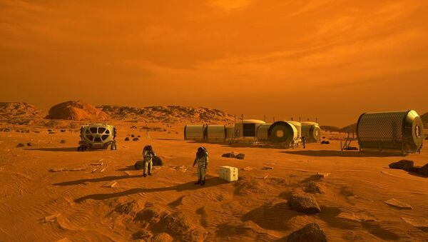 First Humans on Mars (Artist's Concept)  - Sputnik International