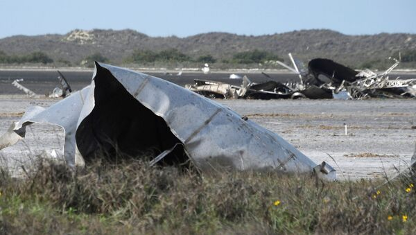 Debris is seen in a National Wildlife Refuge after uncrewed SpaceX Starship prototype rocket SN11 failed to land safely, in Boca Chica, Texas, U.S. March 31,2021.  - Sputnik International