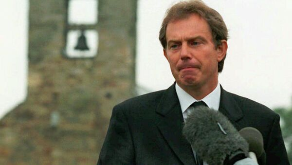 Prime Minister Tony Blair addresses the nation from his home village at Trimdon in northern England Sunday Aug. 31, 1997 - Sputnik International