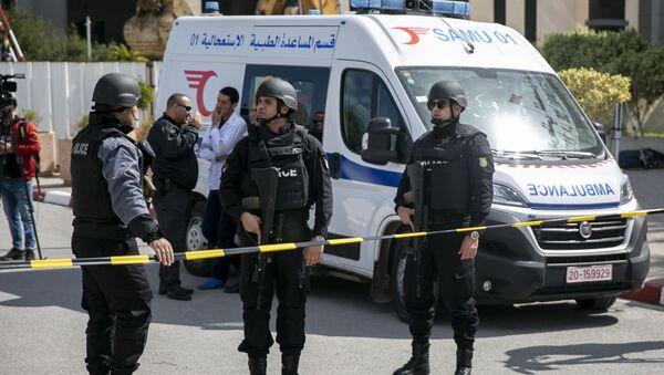 Police officers guard the blast site, Tunis (File) - Sputnik International