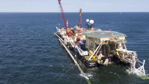 Nord Stream 2 Vessel Castoro 10 doing a AWTI in the Baltic Sea close to Ruegen (11.08.19) - Sputnik International