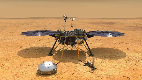 InSight on Mars (Illustration) - Sputnik International