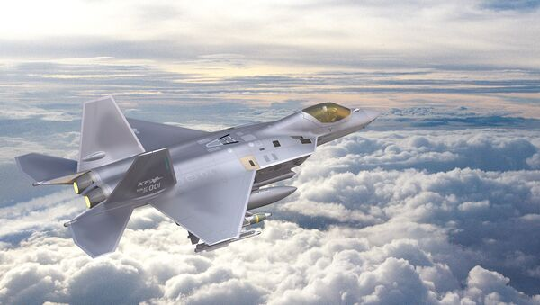 Concept art of the Korea Fighter-eXperimental (KF-X) fighter jet being built by South Korea's Korea Aerospace Industries in partnership with Indonesia - Sputnik International