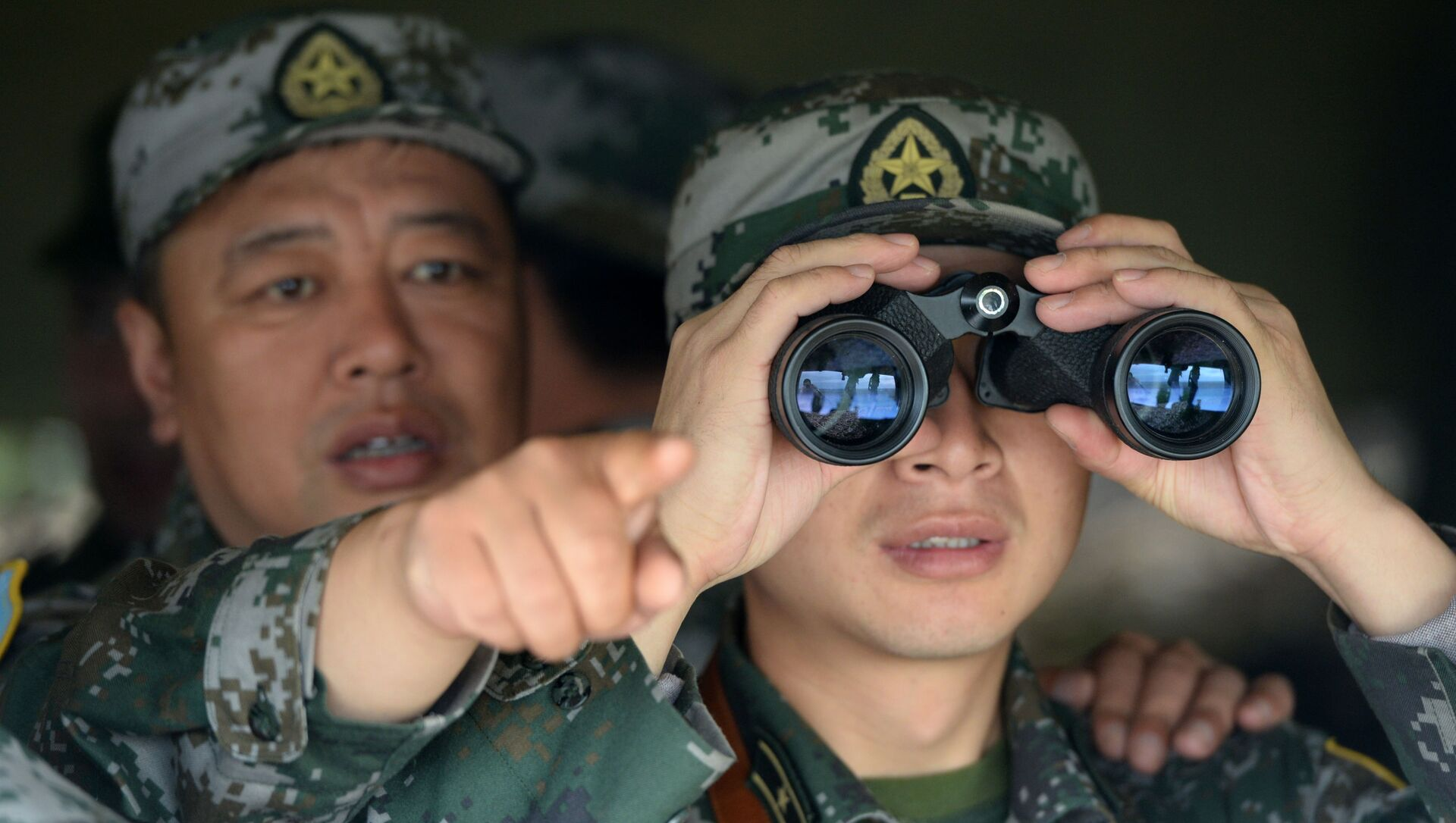 Chinese troops during joint drills with Russia. File photo. - Sputnik International, 1920, 29.08.2021