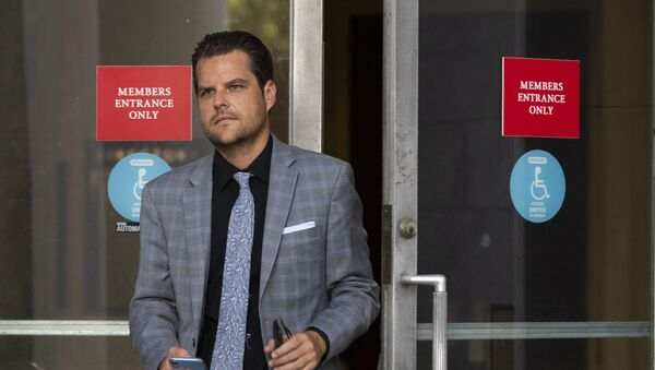House Judiciary Committee member Rep.Matt Gaetz, R-Fla., leaves the Rayburn House Office Building after the committee's closed-door meeting with Geoffrey Berman, former federal prosecutor for the Southern District of New York on Capitol Hill Thursday, July 9, 2020 - Sputnik International