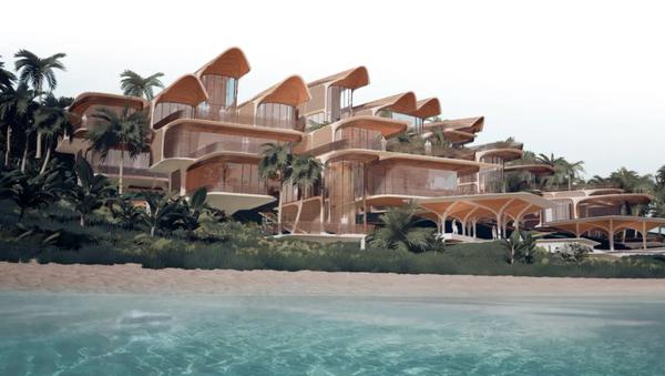 Concept art of housing at Prospera, a private charter city in Honduras - Sputnik International