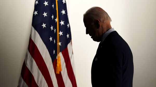 U.S. President Joe Biden departs the room after speaking about jobs and the economy at the White House in Washington, U.S., April 7, 2021. - Sputnik International