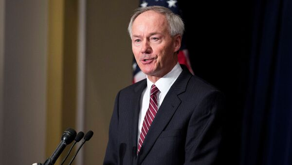 FILE PHOTO: Former member of congress Hutchinson speaks during a news conference held by the NRA in Washington - Sputnik International