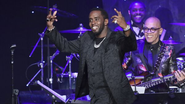 Sean Combs walks on stage to accept the 2020 Industry Icon award at the Pre-Grammy Gala And Salute To Industry Icons at the Beverly Hilton Hotel on Saturday, Jan. 25, 2020, in Beverly Hills, Calif. - Sputnik International