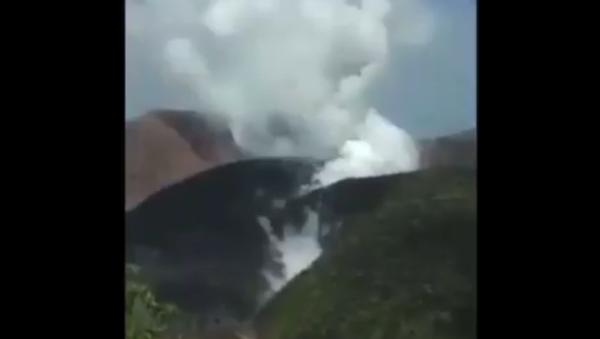 The lava dome of La Soufriere on St. Vincent, seen on April 8, 2021 - Sputnik International