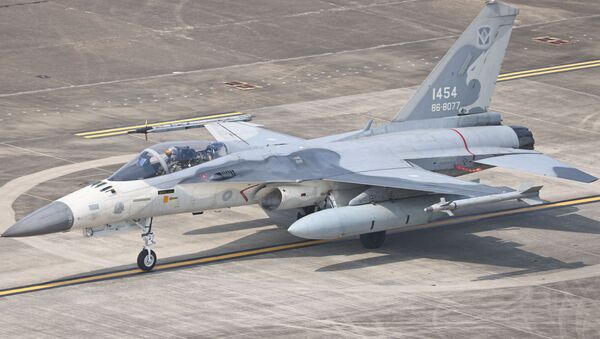 FILE PHOTO: A F-CK-1 Ching-kuo Indigenous Defence Fighter (IDF) is seen at an Air Force base in Tainan - Sputnik International