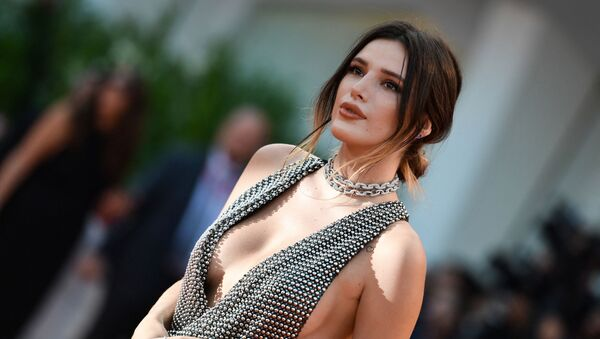 US actress Bella Thorne arrives for the screening of the film Joker on August 31, 2019 presented in competition during the 76th Venice Film Festival at Venice Lido.  - Sputnik International