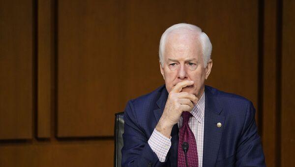 Sen. John Cornyn, R-Texas, attends a Senate Judiciary Committee meeting on Capitol Hill in Washington, Monday, March 1, 2021 - Sputnik International
