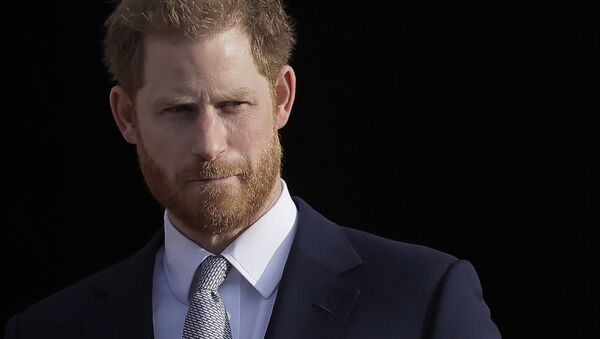 FILE - In this Thursday, 16 January 2020 file photo, Britain's Prince Harry arrives in the gardens of Buckingham Palace in London - Sputnik International