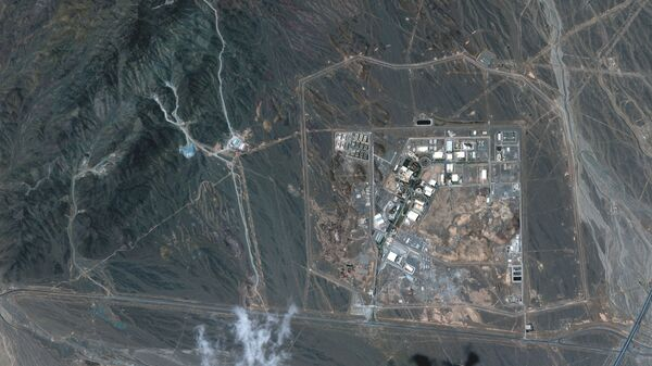 A view of the Natanz uranium enrichment facility 250 km (155 miles) south of the Iranian capital Tehran, in this Maxar Technologies satellite image taken last week and obtained by Reuters on April 12, 2021. - Sputnik International