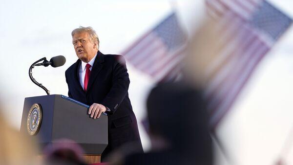President Donald Trump speaks before boarding Air Force One at Andrews Air Force Base, Md., Wednesday, Jan. 20, 2021. - Sputnik International