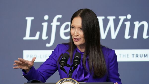 Brooke Rollins, Assistant to the President and Director of the White House Domestic Policy Council, speaks during a Life is Winning event in the South Court Auditorium on the White House complex in Washington, Wednesday, Dec. 16, 2020. - Sputnik International
