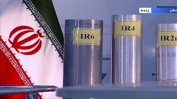In this June 6, 2018 frame grab from Islamic Republic Iran Broadcasting, IRIB, state-run TV, three versions of domestically-built centrifuges are shown in a live TV program from Natanz, an Iranian uranium enrichment plant, in Iran - Sputnik International