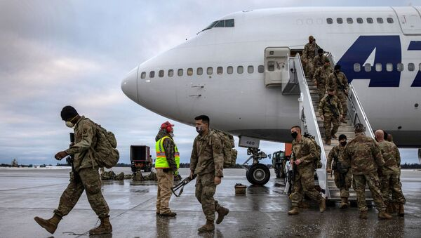 U.S. Army soldiers return home from a 9-month deployment to Afghanistan on December 10, 2020 at Fort Drum, New York.  - Sputnik International