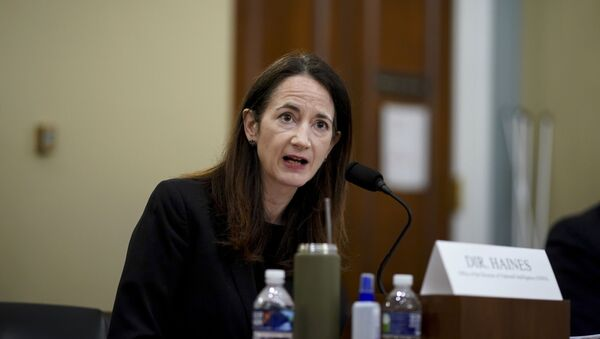 Director Avril Haines of the Office of the Director of National Intelligence (ODNI) testifies during a House Intelligence Committee hearing on Capitol Hill in Washington, Thursday, April 15, 2021 - Sputnik International