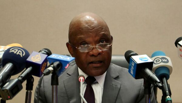 FILE PHOTO: John Nkengasong, Africa's Director of Centers for Disease Control (CDC), speaks during a news conference on coronavirus at the African Union Headquarters in Addis Ababa - Sputnik International