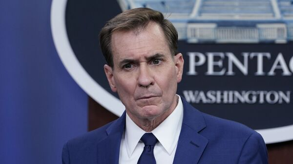 Pentagon spokesman John Kirby speaks during a briefing at the Pentagon in Washington, on Friday, 9 April 2021. - Sputnik International