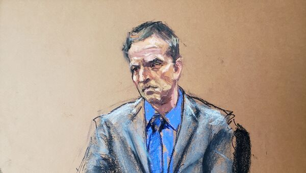Former Minneapolis police officer Derek Chauvin listens as defence attorney Eric Nelson makes closing arguments during the trial of Chauvin for second-degree murder, third-degree murder and second-degree manslaughter in the death of George Floyd in Minneapolis, Minnesota, U.S. April 19, 2021 in this courtroom sketch.  - Sputnik International