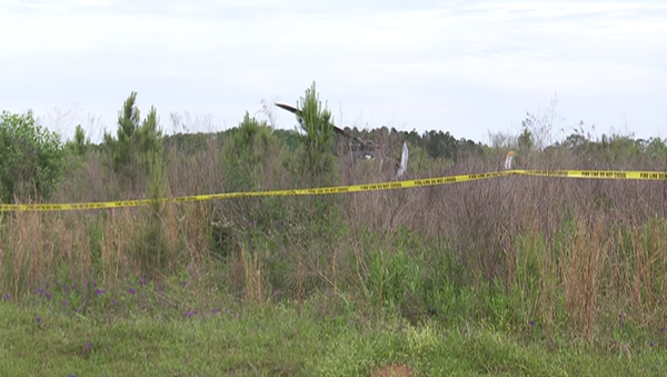 Crash site at Fort Rucker's  Brown Stagefield in Alabama, where a US Army UH-72 Lakota helicopter crashed on a training flight on April 20, 2021. - Sputnik International