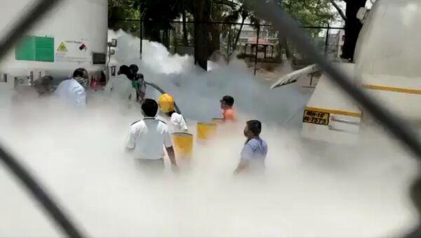 Oxygen Tank leakage reported in Zakir Hussain Hospital in Nashik - Sputnik International