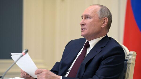 President of Russia Vladimir Putin speaks at the Leaders' summit on climate, 22 April 2021 - Sputnik International