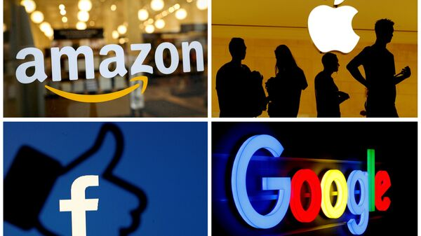 The logos of Amazon, Apple, Facebook and Google in a combination photo. File Photo - Sputnik International