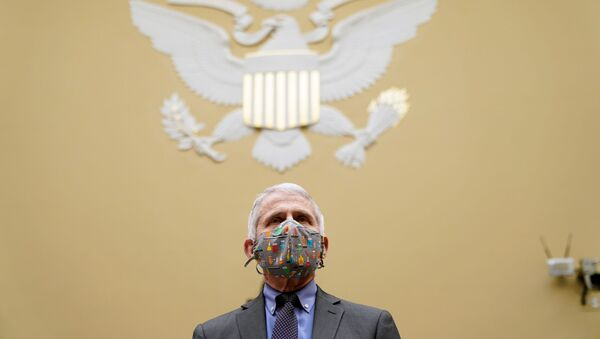Dr. Anthony Fauci arrives to testify before the House Oversight Select Subcommittee on the Coronavirus Crisis on the Capitol Hill in Washington, U.S., April 15, 2021. - Sputnik International