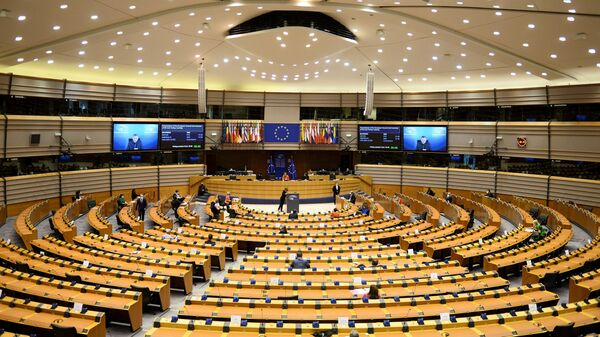 European Council President Charles Michel and European Commission President Ursula von der Leyen attend the EU Parliament plenary session in Brussels, Belgium April 26, 2021 - Sputnik International