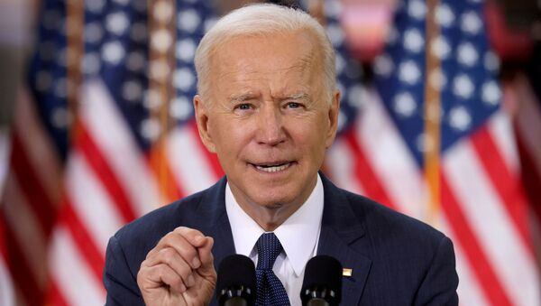 FILE PHOTO: U.S. President Joe Biden speaks about his infrastructure plan during an event to tout the plan at Carpenters Pittsburgh Training Center in Pittsburgh, Pennsylvania, U.S., March 31, 2021.  - Sputnik International
