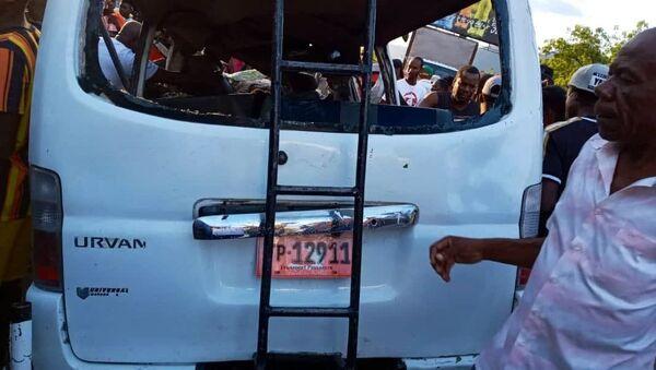 A photo of the bus crash in Haiti occurred on April 28, 2021. - Sputnik International