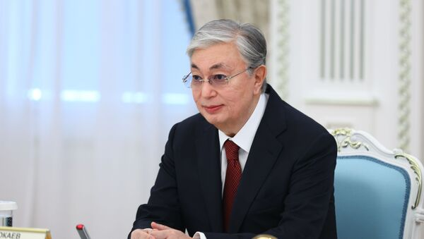 President of Kazakhstan Kassym-Zhomart Tokayev during a meeting with Russian Foreign Minister Sergees Lavrov in Nur-Sultan. - Sputnik International