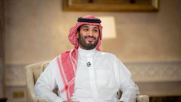 Saudi Crown Prince Mohammed Bin Salman smiles during a televised interview in Riyadh, Saudi Arabia, April 27, 2021. Picture taken April 27, 2021. - Sputnik International