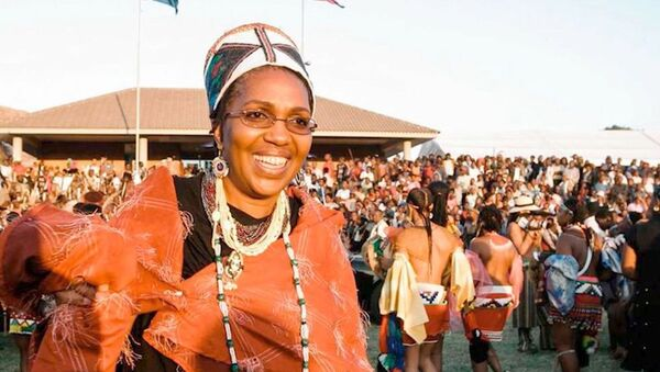 Queen Shiyiwe Mantfombi Dlamini Zulu, pictured in 2004, died on April 30, 2020, at the age of 65. Her death came only one month after she became the traditional ruler of South Africa's Zulu nation following the death of her husband, King Goodwill Zwelithini. - Sputnik International