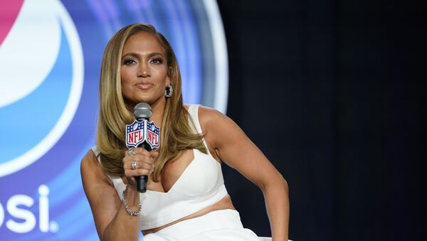 In this Jan. 30, 2020 file photo, NFL Super Bowl 54 football game halftime performer Jennifer Lopez answers questions at a news conference in Miami. Lopez will give a musical performance on the West Front of the U.S. Capitol when Biden is sworn in as the nation's 46th president next Wednesday - Sputnik International