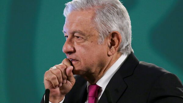 Mexico's President Andres Manuel Lopez Obrador gestures during a news conference at the National Palace in Mexico City - Sputnik International