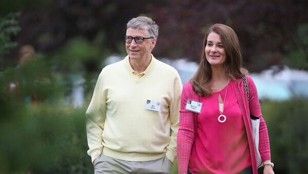In this file photo taken on July 11, 2015 Billionaire Bill Gates, chairman and founder of Microsoft Corp., and his wife Melinda attend the Allen & Company Sun Valley Conference in Sun Valley, Idaho. - Bill Gates, the Microsoft founder-turned philanthropist, and his wife Melinda are divorcing after a 27-year-marriage, the couple said in a joint statement Monday. The announcement from one of the world's wealthiest couples, with an estimated net worth of some $130 billion, was made on Twitter. - Sputnik International